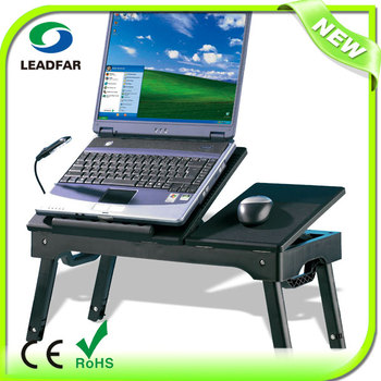 ABS Folding Multifunction Laptop Table With Fan And 3.0 Hub LY NBT22