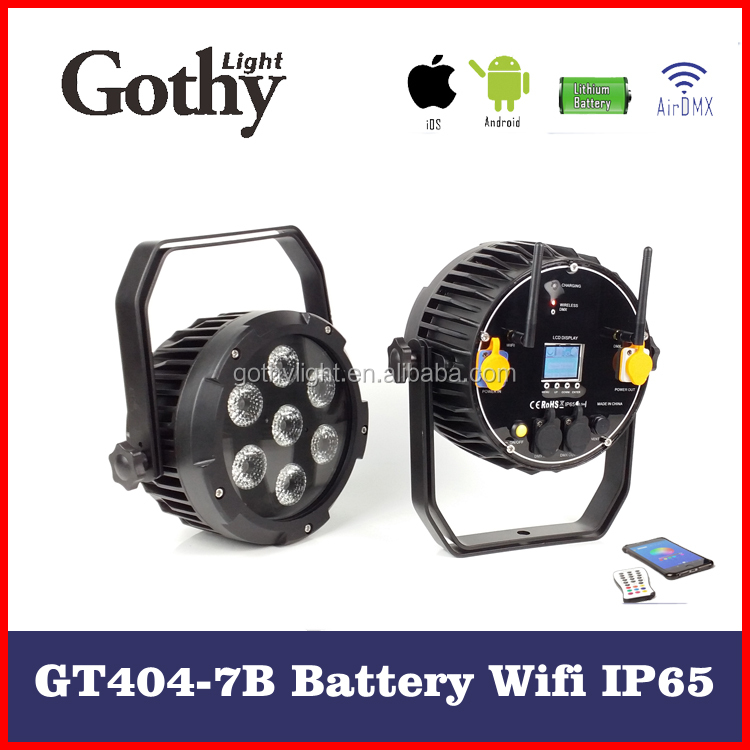 China Cheap Gothylight Waterproof 7x15w wireless battery led par cans