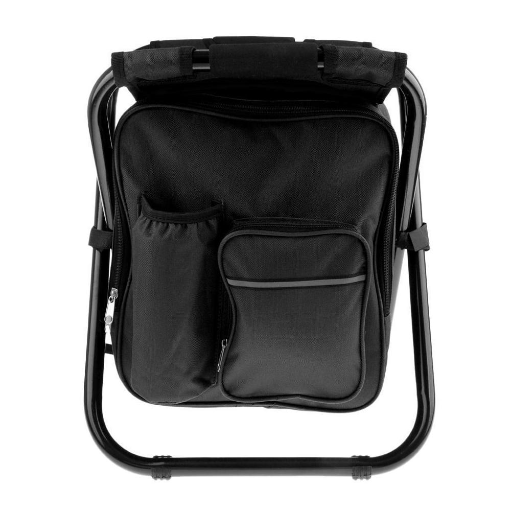 2018 Portable Folding 자 낚시 캠핑 하이킹 Insulated Backpack 자 Black Color
