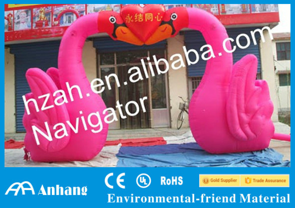 Cute Cartoon Inflatable Swan Arch for Wedding Use