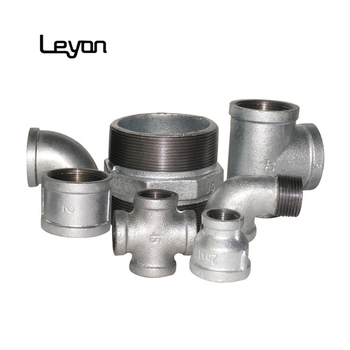 "Hot Galvanize fittings gi socket 1/2"" malleable cross equal sockets 90 degree elbow malleable iron fittings water pipe fitting"