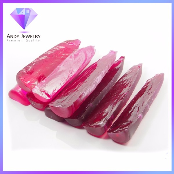 Wholesale Price Synthetic Rough Uncut Ruby Gemstone