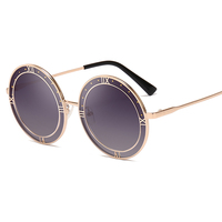 Cool Design Summer UV400 Sunglasses Women Men 2019 High Quality Round Metal Frame Sun Glasses