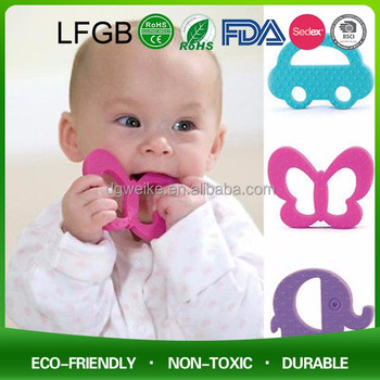 Soft animal Shape Silicone Teether pendant for baby toys