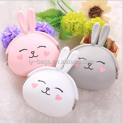 Cute Silicone Coin Purse Wallet Bag Animal Shape Coin Purse Pocket Coin Purse for Wholesale