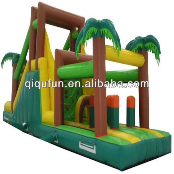 2013 Cheap Tropical Inflatable Obstacle Course