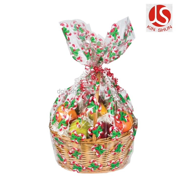 Jumbo Cellophane Bags Christmas Gift Basket Bags