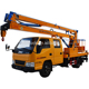 2018 new orange 16m high lifting operation aerial truck mounted work platform for sales