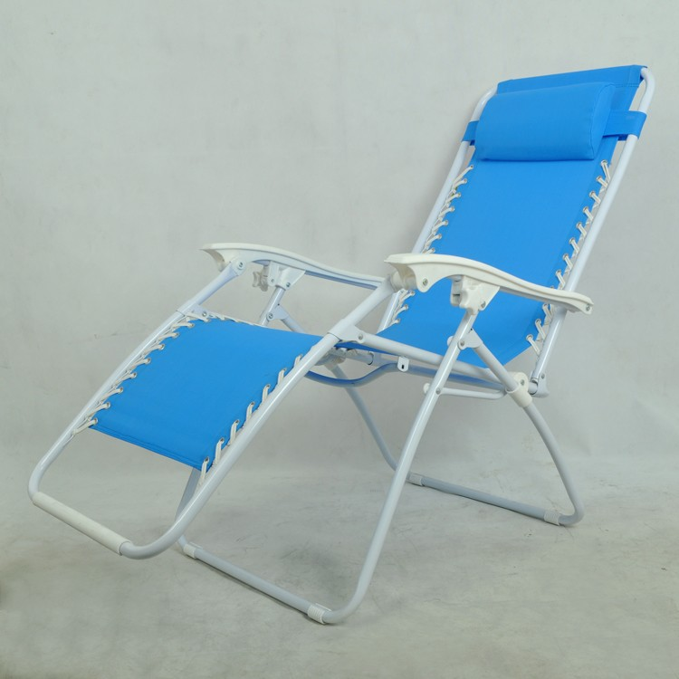 China Made Luxury Folding Beach Chair With Footrest