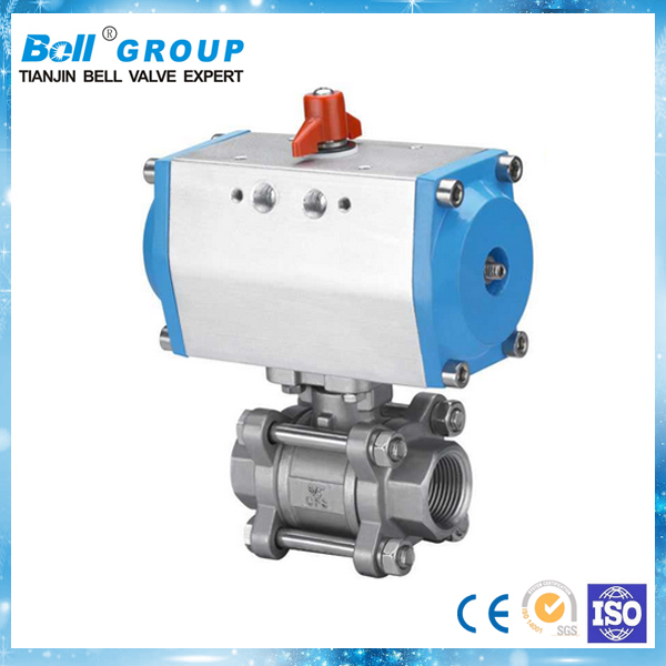 "Pneumatic 1"" BSP Stainless Steel Ball Valve"