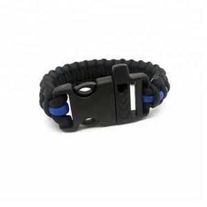 Customized Thin Blue Line Bracelet Customized Thin Blue Line