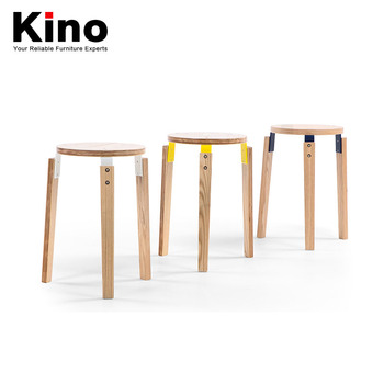 Japanese Contracted Solid Wood Stool White Oak Solid Wood Furniture Stacked  Stool Modern Small Round Chairs
