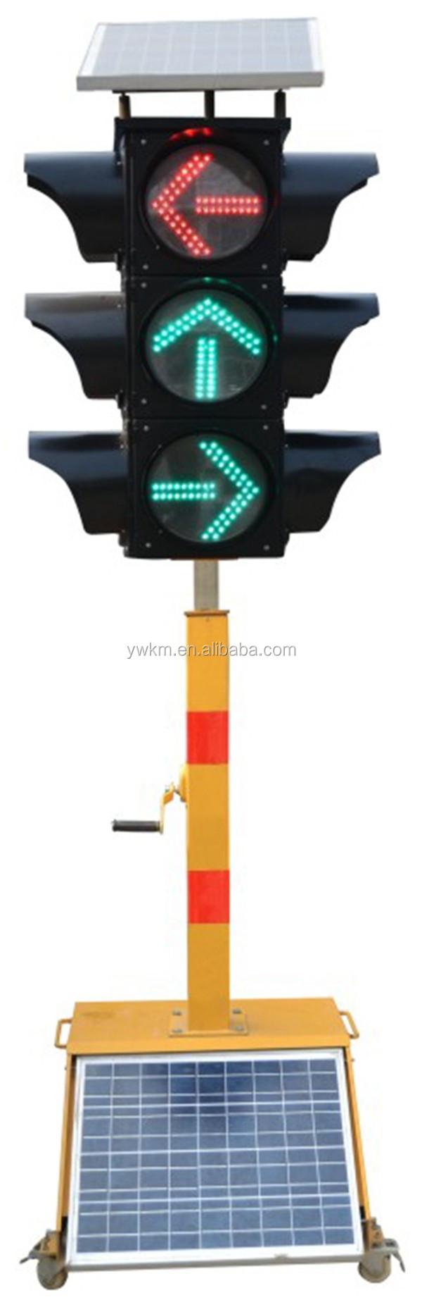 Pedestrian Crossing Movable Led Solar Signal Light