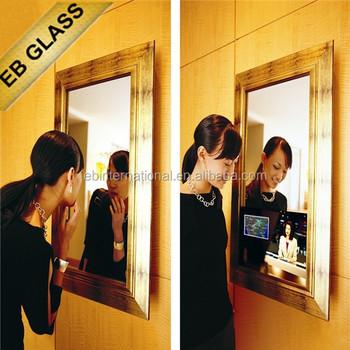 Magic Mirror Tv Hidden Behind Bathroom Smart Lcd With Wifi