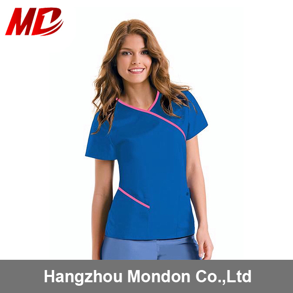 Fashion Hospital Nurse Uniform Medical Scrub