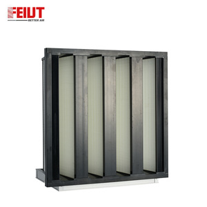 ABS Metal Frame Activated Carbon Pleated Cartridge Molecular Air Filter