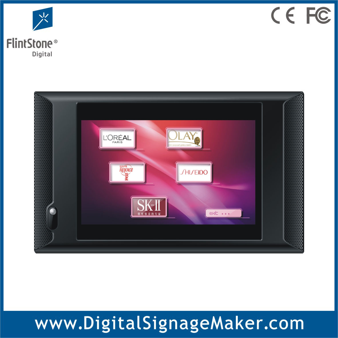 10 inch advertising retail shop touch screen display