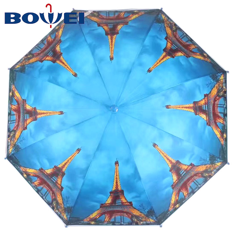 2019 Hot sales poe material automatic fashion umbrella with printing