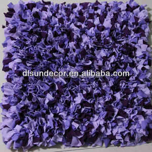 Purple color hand woven cotton shaggy raggy rugs