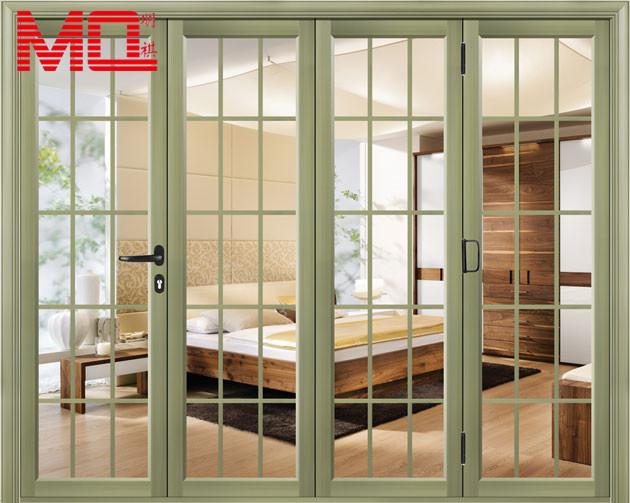 Color personalizado aluminio puertas plegables franc s Puertas plegables de aluminio