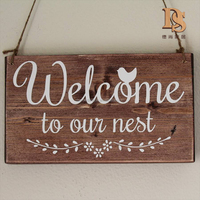 Shabby Chic Home Decor Bar Office Bathroom Hanging Wooden Plaque Sign
