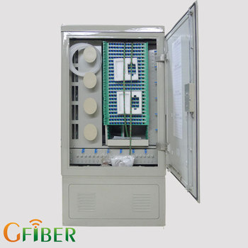 FTTX Fiber Optic Network Patch Panel 12u Outdoor Odf Rack Cabinet