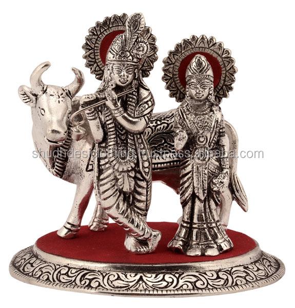 Metal Statues Of Lord Radha Krishna Buy Metal Radha Krishna Statue