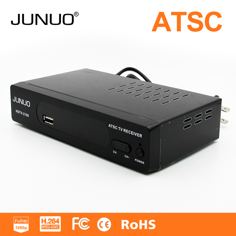 JUNUO 2016 OEM HD ATSC set top box, tv tuner full hd digital tv receiver for MAXICO/AMERICA/CANADA market