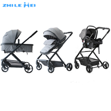 China Baby Stroller Factory Kata ZHILEMEI Brand Travel System Baby Stroller Luxury Baby Pram 3 in 1