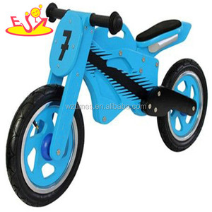 Wholesale cool style blue wooden running balance bike for kids play in home W16C070