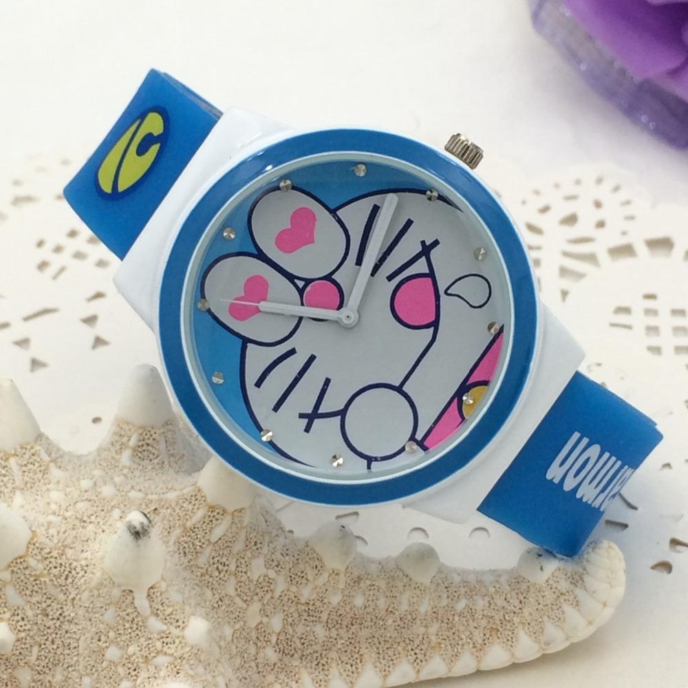 2016 New Arrival Dorarmon Children Student Watch Kids Cartoon Watch Boy Gift Cartoon Cat Watch Rhinestone Bracelet Hot Sale