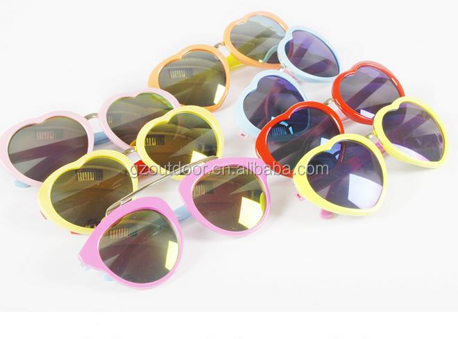 Modelo coreano crianças bonito da forma do coração de resina óculos de sol,  rosa vermelho 560a48e305