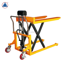 1000kg Portable Manual Hydraulic Hand Scissor Lift Pallet Truck
