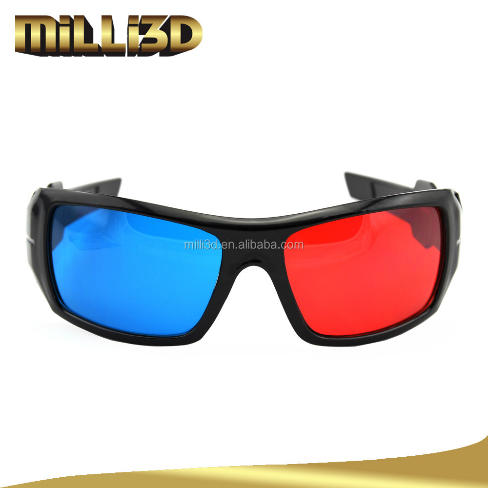 new design red cyan bule film video 3d glasses with low price