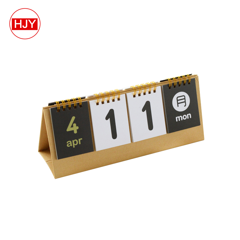 Classical hand calendar , High quality desk calendar stand for office