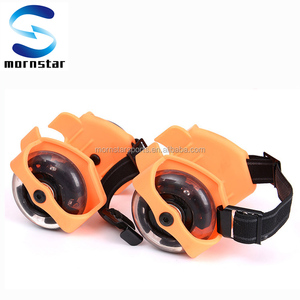 Kids Flashing Wheels to Attach to Shoes to Make Roller Skates