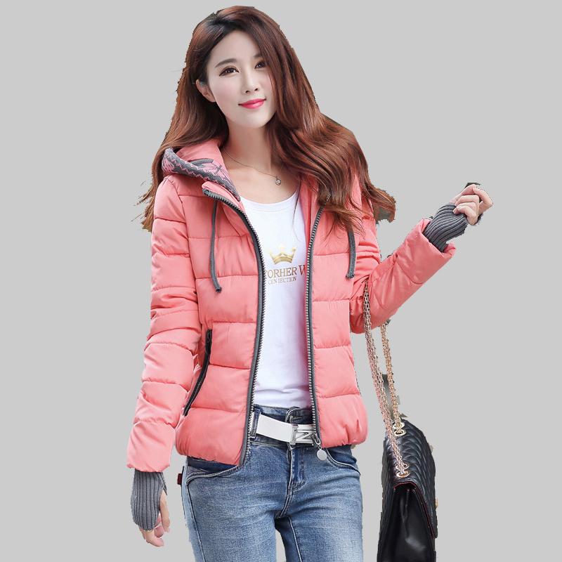 Fashion 2016 New Student font b Winter b font Coat Female Long Sleeve Warm Slim Down
