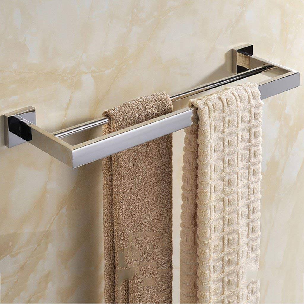 EQEQ Bath Rooms Shelf 304 Stainless Steel Double Bar Bath Rooms Bath Rooms Towel Holder Stainless Steel Towel Rail Bath Rooms Trailer Hardware Bathroom Towel Storage Rack