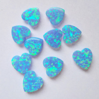 Beautiful Jewelry Stone OP06 Blue Color Japan Opal 10x10mm Heart Shape Loose Opal Gemstone