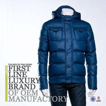 First Luxury Brand Men Down Jacket Bomber Clothing Made In ...