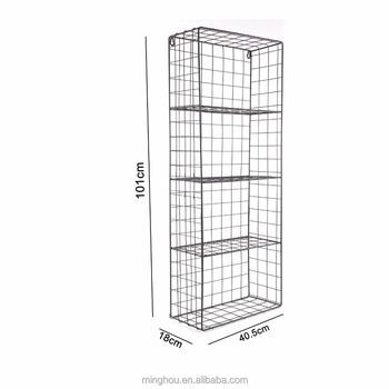 Metal Locker Wire Mesh Rack Basket Storage Wall Mounted Shelving
