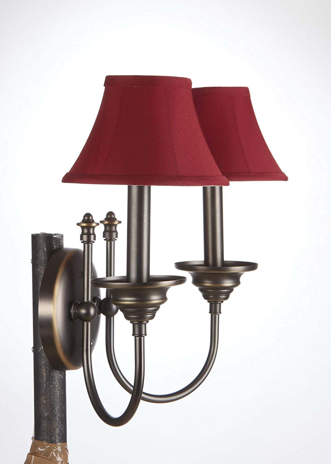 Get Quotations Upgradelights Set Of 2 Red Bell Shade Chandelier Lamp Mini Clip On 6