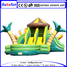 Cheap jungle theme giant inflatable water slide for sale