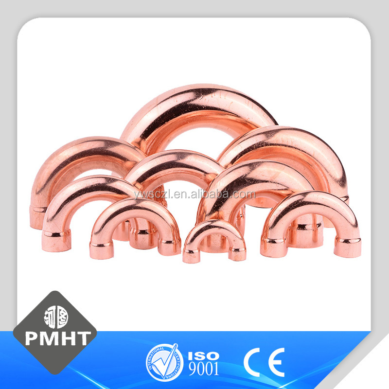 copper fitting copper pipe U bend pipe copper fittings 180 degree elbow