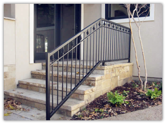 Rustproof wrought iron railings metal railing outdoor