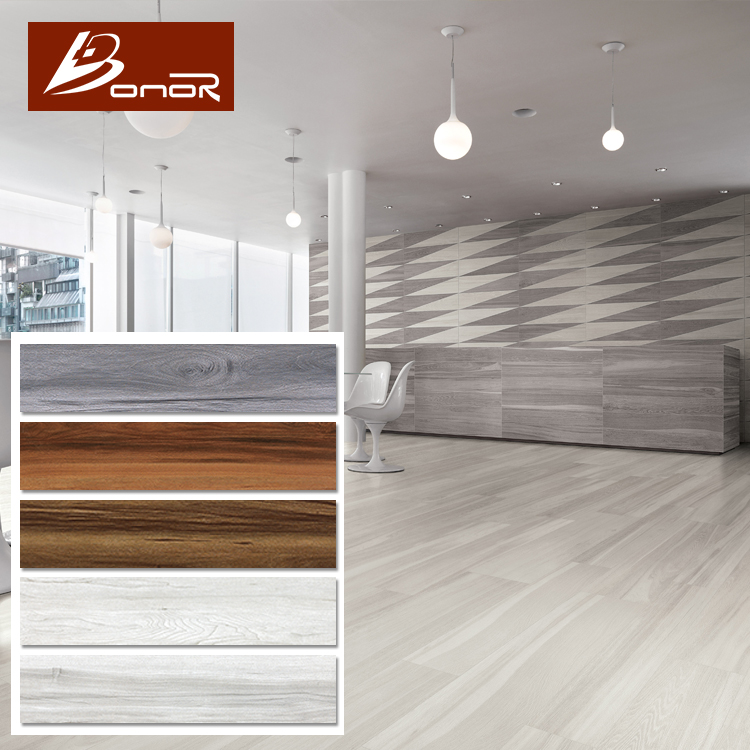 200x1000 Mm Gray Floor And Wall Wood Plank Look Porcelain Tile Ceramic Grey