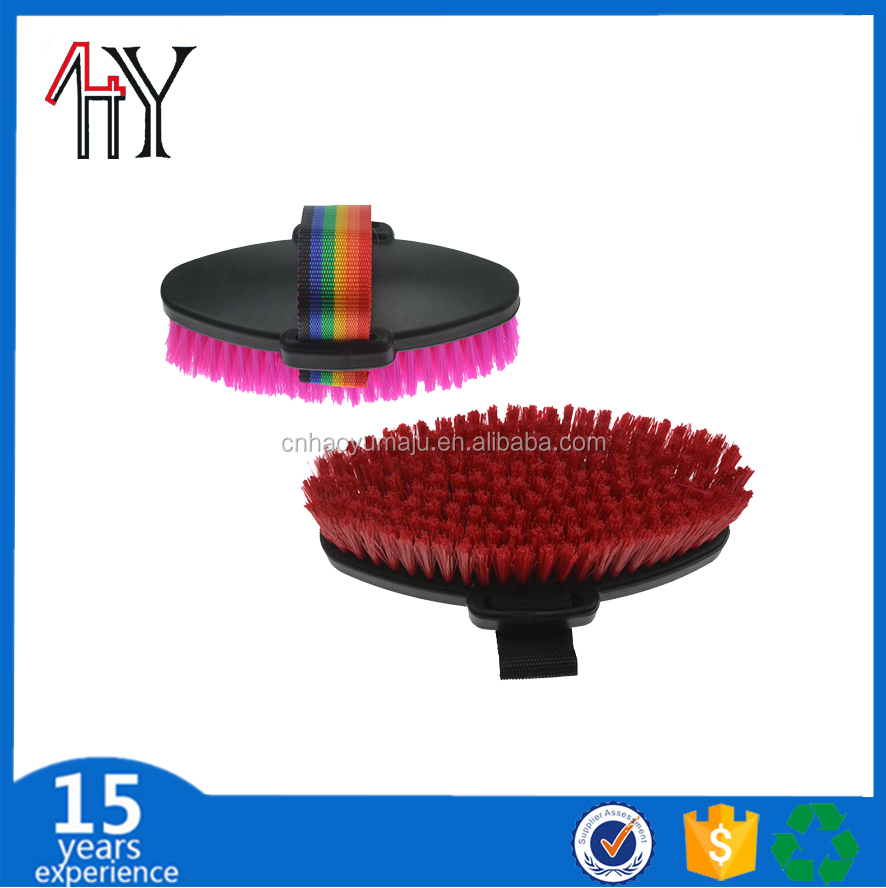 plastic horse body brush saddler