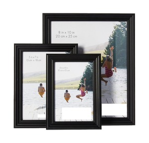 Multi Pack Picture Frame Value Set 3PCS Black wooden photo frame