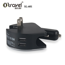 Power Universal Mobile Phone Accessories Charger Travel Charger 2 port usb Car charger AUS EU UK US Plugs