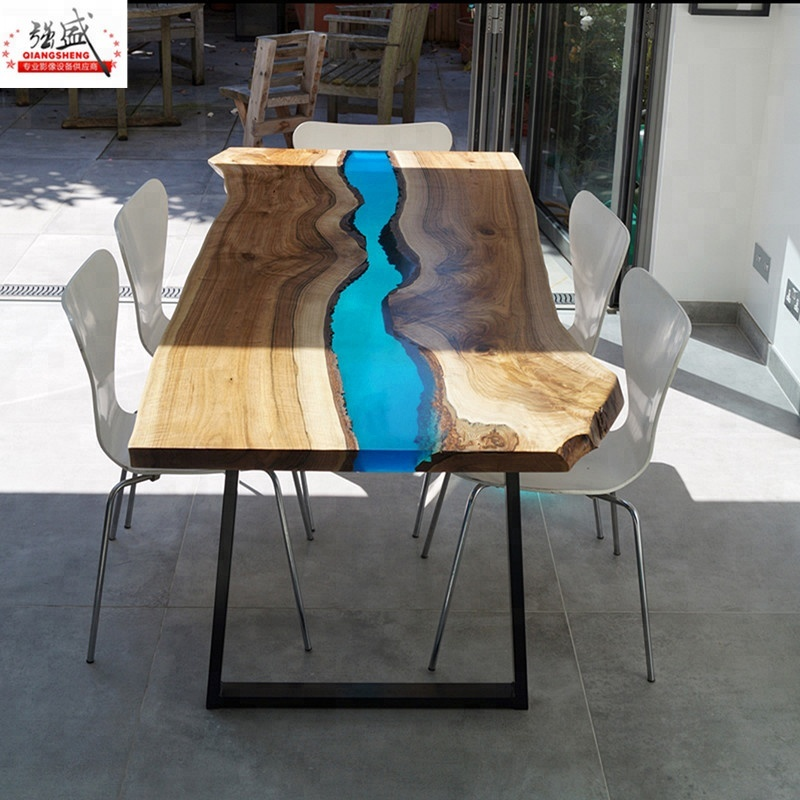 Coffee Table River Epoxy Live Edge Table Epoxy Resin Glue Filling
